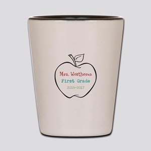 Colorized Custom Teachers Apple Shot Glass