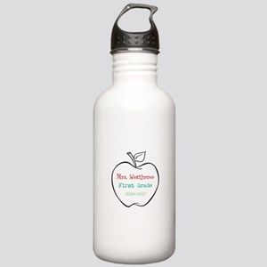 Colorized Custom Teachers Apple Water Bottle