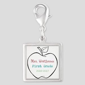 Colorized Custom Teachers Apple Charms