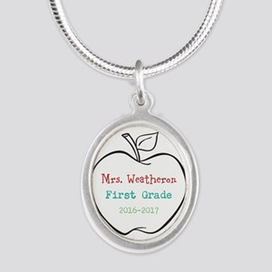 Colorized Custom Teachers Apple Necklaces