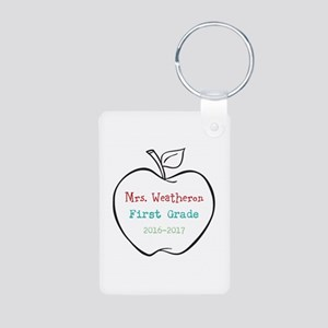 Colorized Custom Teachers Apple Keychains