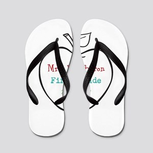 Colorized Custom Teachers Apple Flip Flops