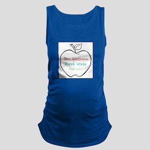 Colorized Custom Teachers Apple Maternity Tank Top
