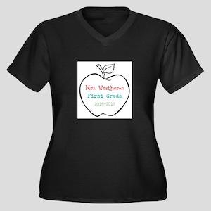 Colorized Custom Teachers Apple Plus Size T-Shirt