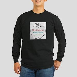 Colorized Custom Teachers Apple Long Sleeve T-Shir