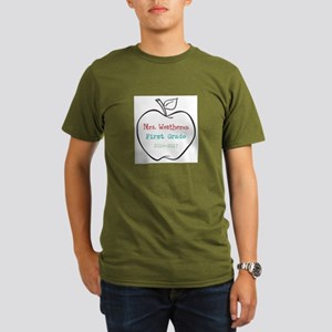 Colorized Custom Teachers Apple T-Shirt
