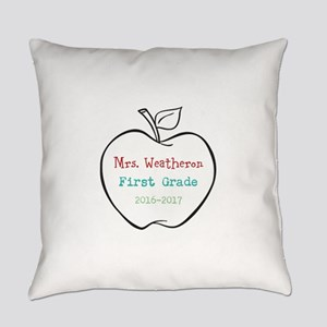Colorized Custom Teachers Apple Everyday Pillow
