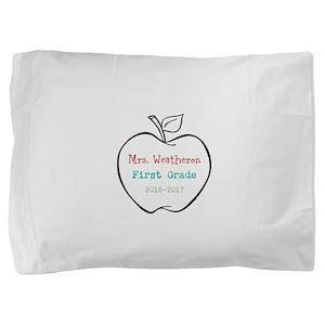Colorized Custom Teachers Apple Pillow Sham