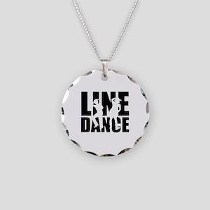 Line dance Necklace Circle Charm