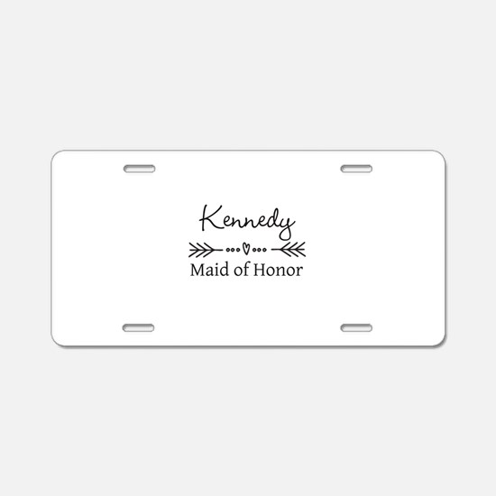 Bridal Party Personalized Aluminum License Plate