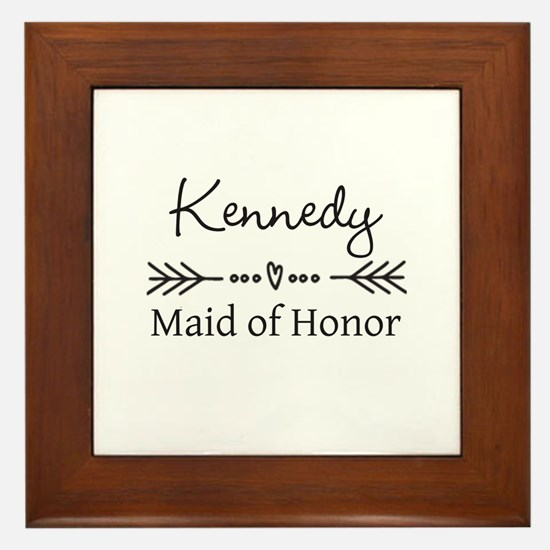 Bridal Party Personalized Framed Tile