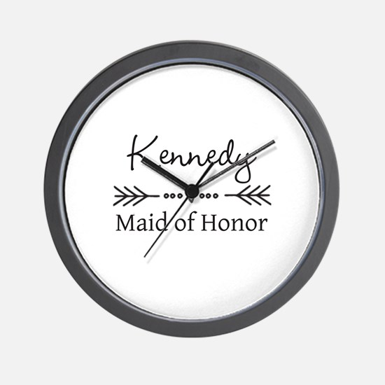 Bridal Party Personalized Wall Clock