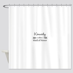 Bridal Party Personalized Shower Curtain