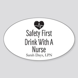 Drink with a Nurse Personalized Sticker