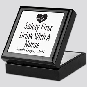 Drink with a Nurse Personalized Keepsake Box