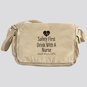 Drink with a Nurse Personalized Messenger Bag