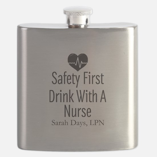 Drink with a Nurse Personalized Flask