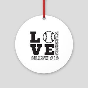 Baseball or Softball Personalized Team and Name Ro