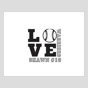 Baseball or Softball Personalized Team and Name Po
