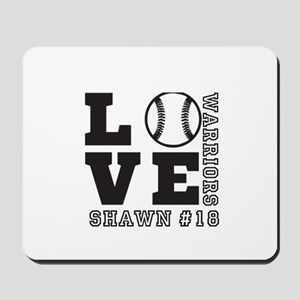 Baseball or Softball Personalized Team and Name Mo