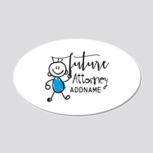 Future Attorney Personalized 20x12 Oval Wall Decal