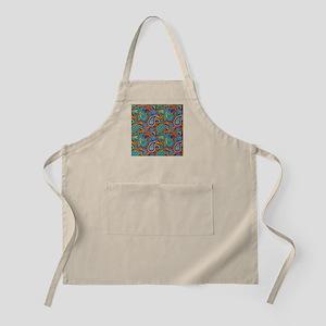 Colorful Retro Paisley Pattern Apron