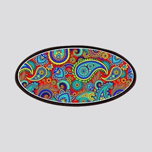 Colorful Retro Paisley Pattern Patch