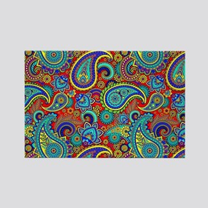 Colorful Retro Paisley Pattern Magnets