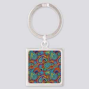 Colorful Retro Paisley Pattern Keychains