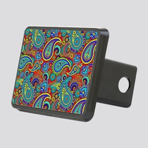 Colorful Retro Paisley Pat Rectangular Hitch Cover