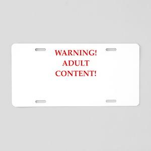 adult content Aluminum License Plate