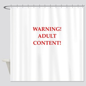adult content Shower Curtain