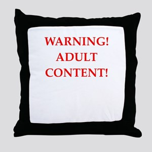 adult content Throw Pillow
