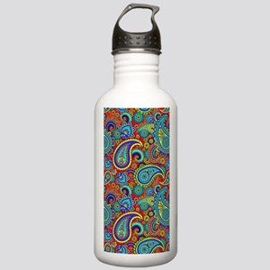 Colorful Retro Paisley Stainless Water Bottle 1.0L