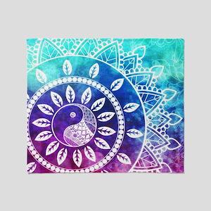 Divine Dream Pink Purple Blue Mandal Throw Blanket