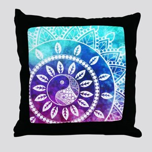 Divine Dream Pink Purple Blue Mandala Throw Pillow