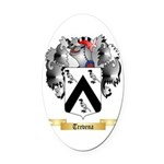 Trevena Oval Car Magnet