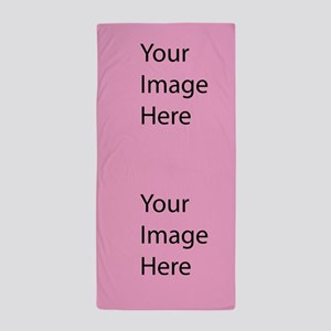 Beach Towel Two Picture Template Pink