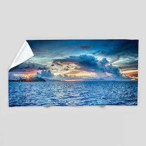 Beach Towel With Bora Bora Sunset