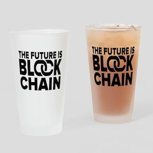 The Future is Blockchain Drinking Glass