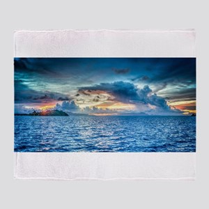 Bora Bora Sunset Throw Blanket