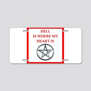 hell Aluminum License Plate