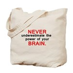 Never underestimate 1 Tote Bag