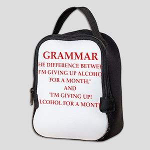 a funny joke Neoprene Lunch Bag