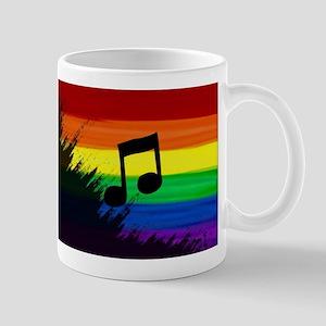 Musical note gay rainbow art Mugs