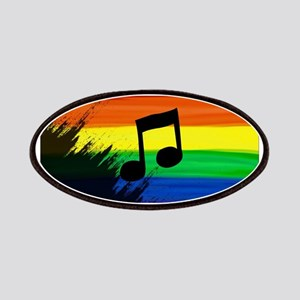 Musical note gay rainbow art Patch