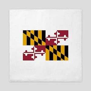 Maryland State Flag Queen Duvet