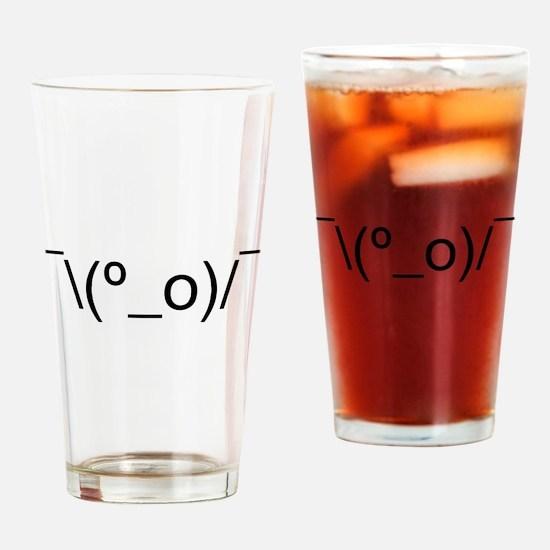 I Dunno LOL Emoticon Japanese Kaomoji Drinking Gla