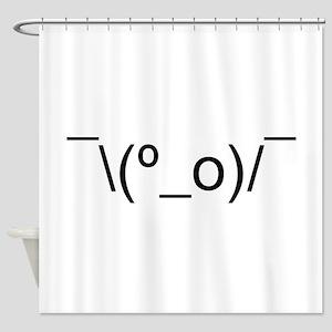 I Dunno LOL Emoticon Japanese Kaomoji Shower Curta