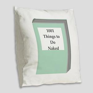 book Burlap Throw Pillow